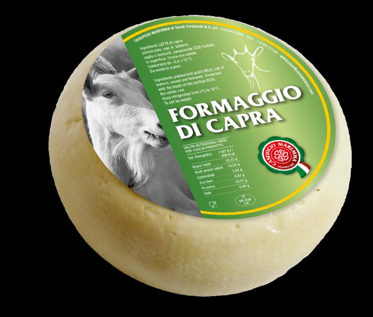 FROMAGE TOSCANO DE CHÈVRE 1.5 kg/env. (Cas. Maremma)