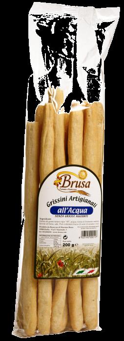 GRESSINS ARTISANAUX A L'EAU (sans gras) 200 gr Brusa