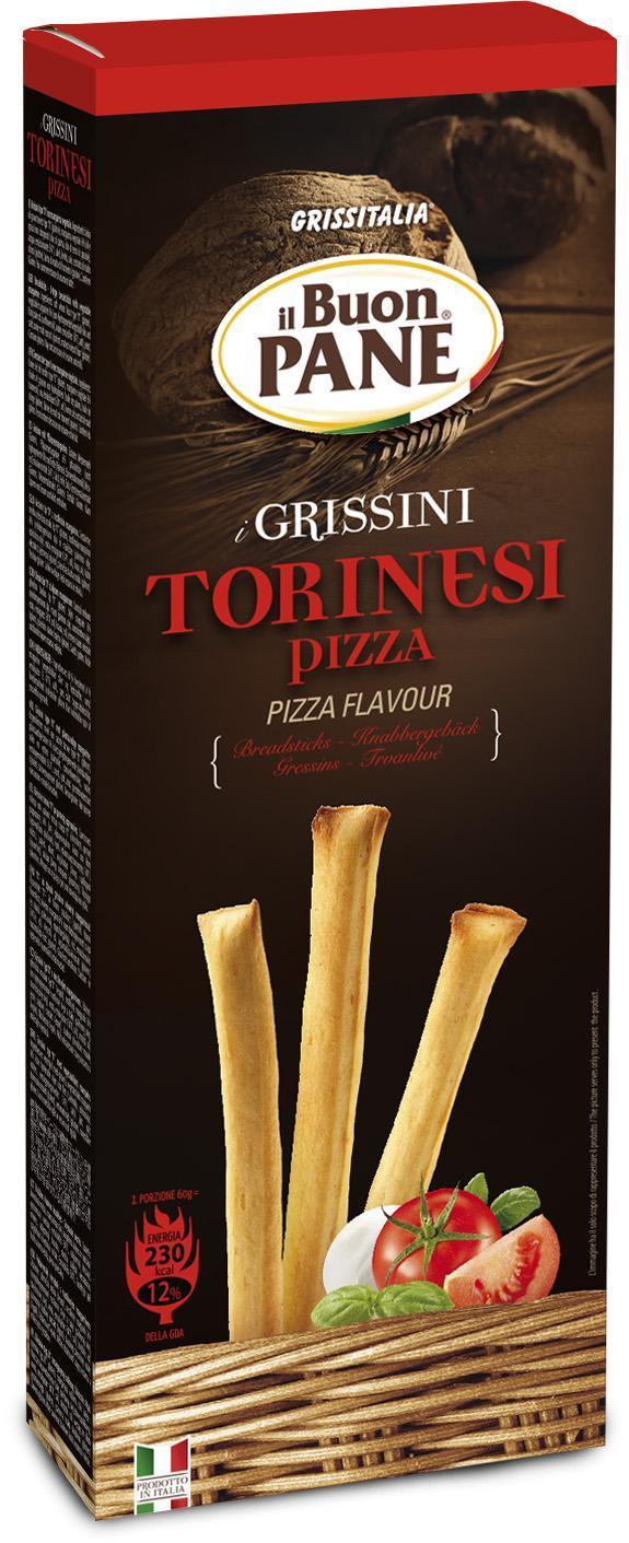 GRESSINS TORINESI PIZZA 120 gr