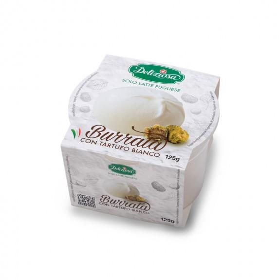 BURRATINA A LA TRUFFE BLANCHE 125 gr Deliziosa