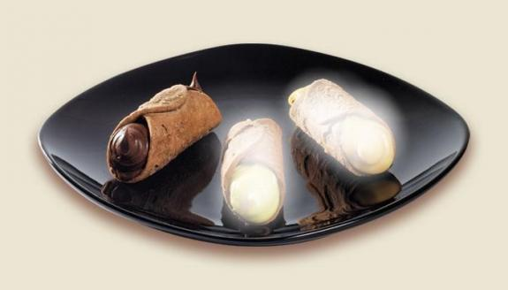 CANNOLI SICILIENS FARCI CHOCOLAT (Gianduja) 1.5 kg