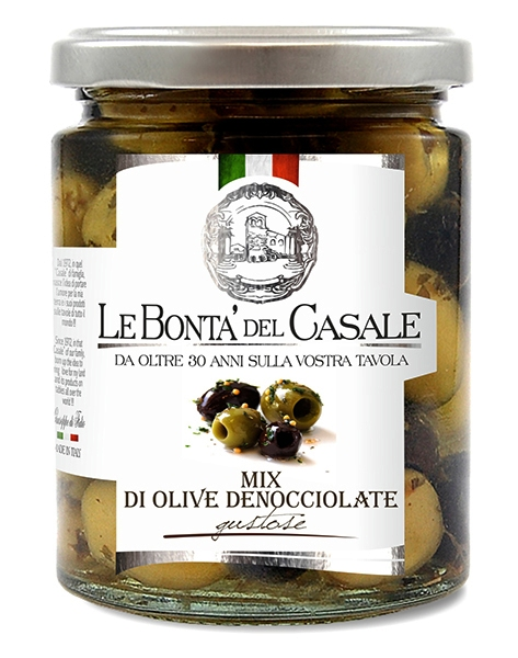 OLIVES DÉNOYAUTES MIX GUSTOSE 314 ML Dispac