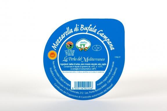 MOZZARELLA BUFFLONNE D.O.P. 125 gr Perla del Mediterraneo