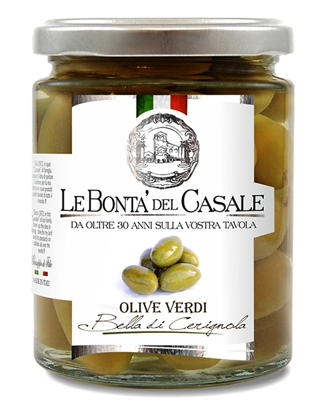 OLIVES VERTES DE POUILLES BELLE DI CERIGNOLA 314 ML Dispac