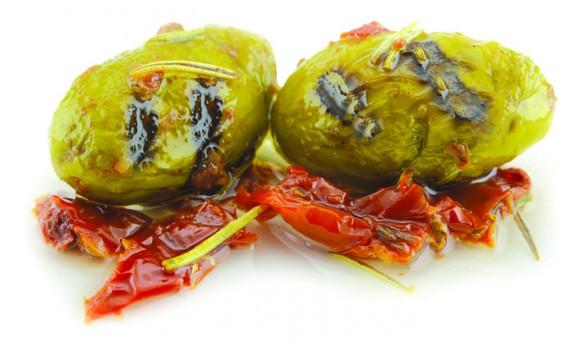 OLIVES DEL CACCIATORE (Vertes Grillées avec Tomates Séchées) 1.9 kg