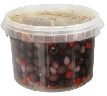 OLIVES NOIRES ASSAISONNÉES AROMATISÉES 3.5 kg