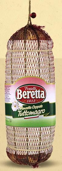 PANCETTA COPPATA S/COUENNE 5 kg/env. Beretta