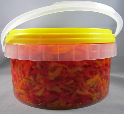 POIVRONS JAUNES ET ROUGES A LAMELLES 3 kg 3C Alimentari