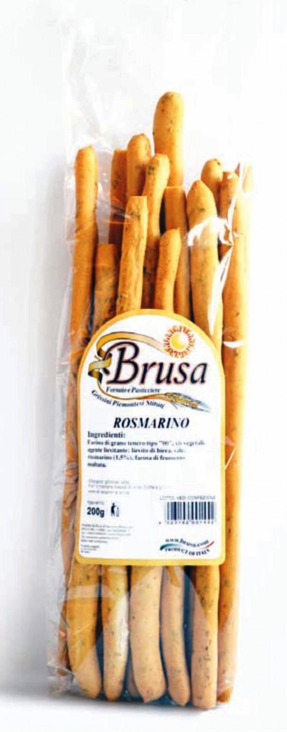 GRESSINS ARTISANAUX AU ROMARIN 200 gr Brusa