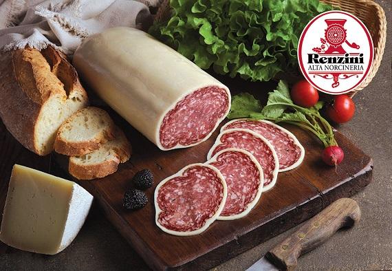 SAUCISSON A LA TRUFFE 1/2 (Enrobé de Parmigiano) 1.8 kg/env.