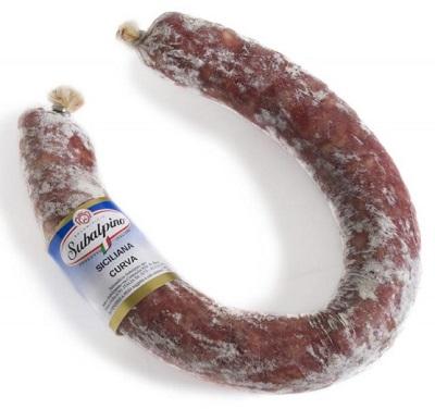 SAUCISSE FER A CHEVAL DOUX (SICILIANELLA) 500 Gr/env. Subalpino