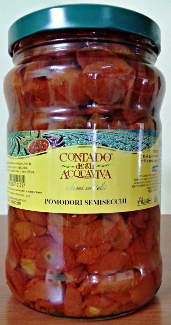 TOMATES CERISES CONFITES Bocal 1.7 LT Agra Contado
